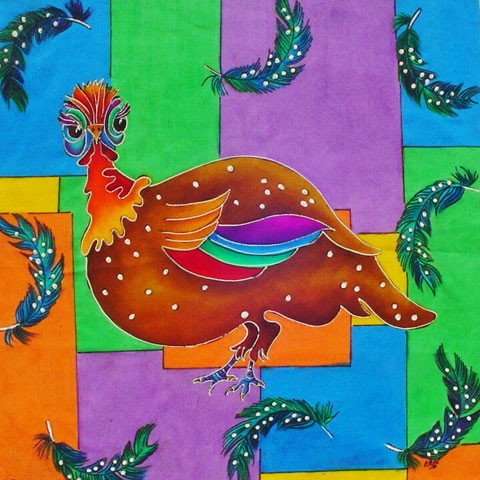 Fabric Painting Designs Guinea Fowl