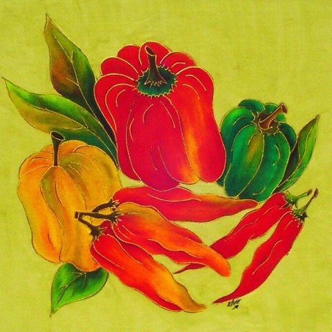 Fabric Painting Designs Peppers