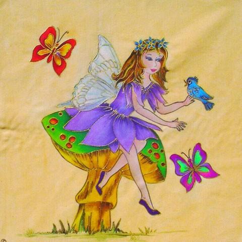Fabric Painting Designs Mushroom Fairy