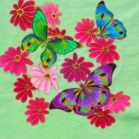 Fabric Painting Designs Butterflies