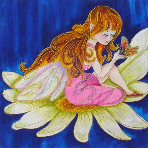Fabric Painting Designs Flower Fairy
