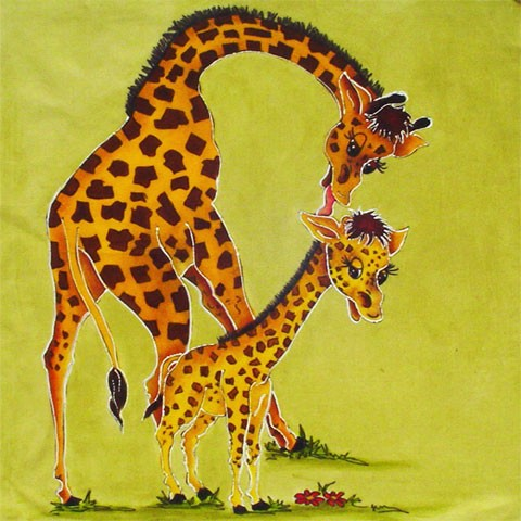 Fabric Painting Designs Mother & Son