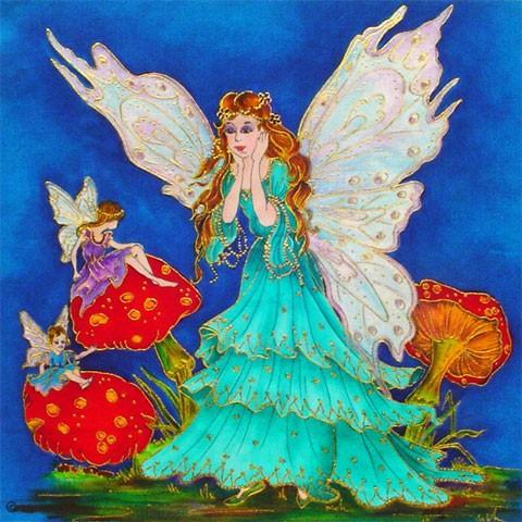Fabric Painting Designs Fairy Surprise