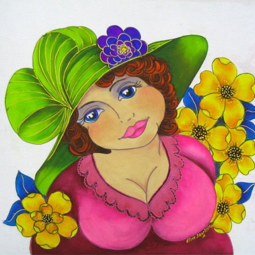 Fabric Painting Designs Glamorous Gloria