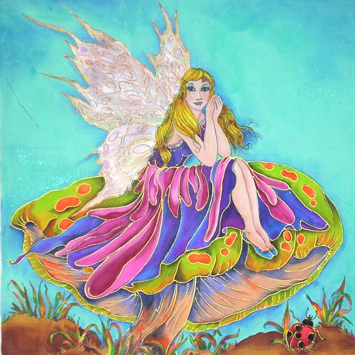 Fabric Painting Designs Pretty Fairy