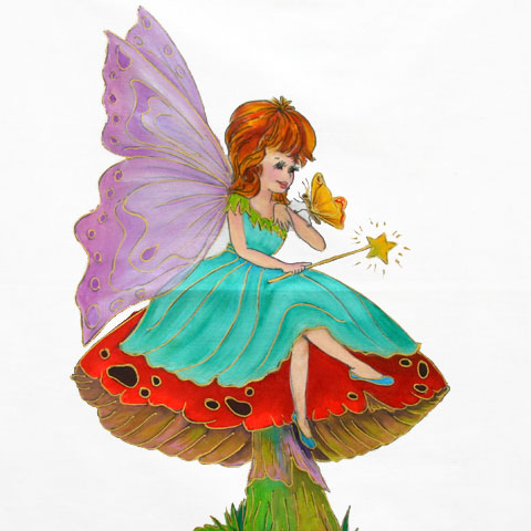 Fabric Painting Designs Butterfly Fairy