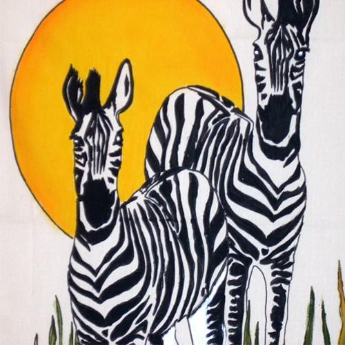 Fabric Painting Designs Zebra's