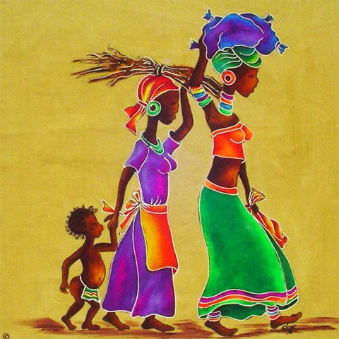 Fabric Painting Designs Wood Gatherers