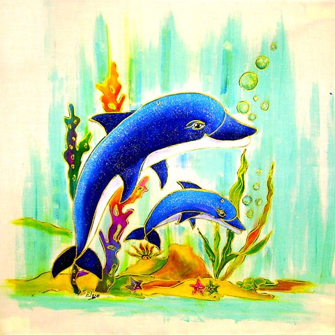 Fabric Painting Designs Dolphins