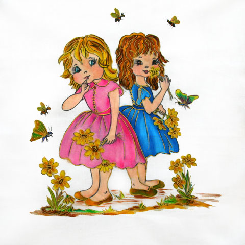 Fabric Painting Designs Emma & Cherie