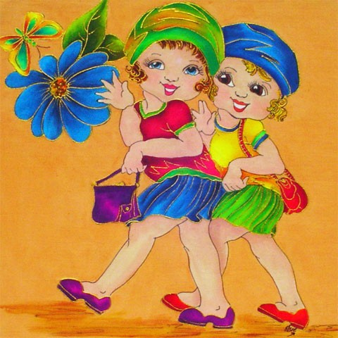 Fabric Painting Designs Friends
